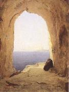 Karl Blechen Monks at the Gulf of Naples (mk09) oil painting picture wholesale