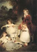 LAWRENCE, Sir Thomas The Children of John Angerstein John Julius William (1801-1866)Caroline Amelia (b.1879)Elizabeth Julia and Henry Frederic (mk05) oil painting picture wholesale