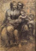 LEONARDO da Vinci Virgin and Child with St Anne and St John the Baptist (mk08) oil painting picture wholesale