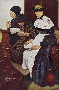 Leibl, Wilhelm Three Women in Church (mk09) oil painting artist