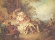 Pater, Jean-Baptiste Gathering of Actors from the Italian Comedy (mk05) oil painting picture wholesale