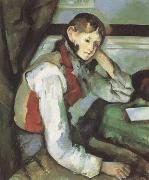 Paul Cezanne Boy with a Red Waistcoat (mk09) oil painting picture wholesale