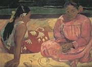 Paul Gauguin Tahitian Women on the beach (mk07) oil painting picture wholesale