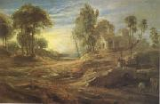 Peter Paul Rubens Landscape with a Watering Place (mk05) oil painting picture wholesale