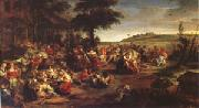 Peter Paul Rubens The Village Wedding (mk05) oil painting picture wholesale