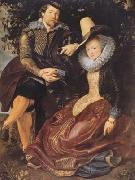 Peter Paul Rubens Ruben with his first wife Isabeela Brant in the Honeysuckle Bower (mk08) oil painting picture wholesale