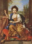 Pierre Mignard Girl Bloing Soap Bubbles (mk08) Spain oil painting artist
