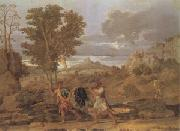 Poussin Autumn or the Grapes from the Promised Land (mk05) oil painting picture wholesale
