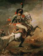 Theodore   Gericault Officer of the Imperial Guard (The Charging Chasseur) (mk09) oil painting picture wholesale