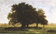 Theodore Rousseau Oak Trees near Apremont (mk09) oil painting picture wholesale