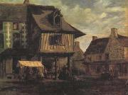 Theodore Rousseau Marketplace in Normandy (san04) oil painting artist