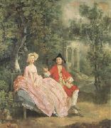 Thomas Gainsborough Conversation in a Park(perhaps the Artist and His Wife) (mk05) oil painting picture wholesale