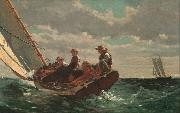 Winslow Homer Breezing up (mk09) oil painting picture wholesale