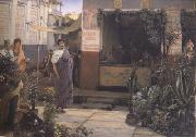 Alma-Tadema, Sir Lawrence The Flower Market (mk23) oil painting picture wholesale