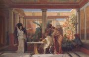 Alma-Tadema, Sir Lawrence Gustave Boulanger,The Rehearsal in the House of the Tragic Poet (mk23) oil painting picture wholesale