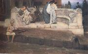 Alma-Tadema, Sir Lawrence An Exedra (mk23) oil painting picture wholesale