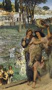 Alma-Tadema, Sir Lawrence On the Road to the Temple of Ceres (mk23) oil painting picture wholesale