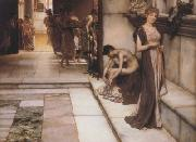 Alma-Tadema, Sir Lawrence An Apodyterium (mk23) oil painting picture wholesale