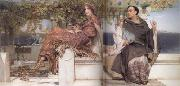 Alma-Tadema, Sir Lawrence The Conversion of Paula by Saint Jerome (mk23) oil painting picture wholesale