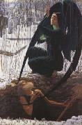 Carlos Schwabe The Grave-Digger's Death (mk19) oil painting artist