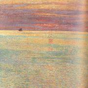 Childe Hassam Sunset at Sea (nn02) oil painting picture wholesale