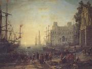 Claude Lorrain Port with the Ville Medici (mk17) oil painting picture wholesale