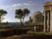 Claude Lorrain Landscape with Aeneas on Delos (mk17) oil painting picture wholesale