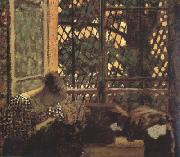 Edouard Vuillard Woman sewing Before a Garden (nn020 oil painting picture wholesale