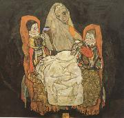 Egon Schiele Mother with Two Chilren III (mk12) oil painting picture wholesale