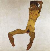 Egon Schiele Seated Male Nude (mk12) oil painting picture wholesale
