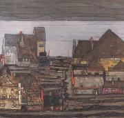 Egon Schiele Suburb I (mk12) oil painting picture wholesale