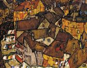 Egon Schiele Krumau Town Crescent I(The Small City V) (mk12) oil painting picture wholesale