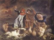 Eugene Delacroix Dante and Virgil in Hel (The Barque of Dante) (mk22) oil painting picture wholesale