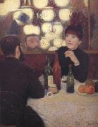 Federico zandomeneghi At the Cafe de la Nouvelle Athenes oil painting picture wholesale
