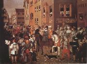 Franz Pforr Entry of Emperor Rudolf of Habsburg into Basel in 1273 (mk22) oil painting picture wholesale