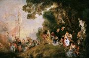 Jean-Antoine Watteau Pilgrimage to Cythera (mk08) oil painting picture wholesale