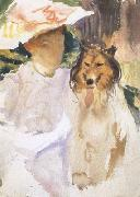 John Singer Sargent Woman with Collie (mk18) oil painting picture wholesale