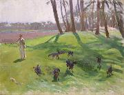 John Singer Sargent Landscape with Goatherd (mk18) oil painting picture wholesale