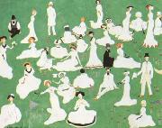 Kasimir Malevich Repose Society in Top Hats (mk19) oil painting picture wholesale