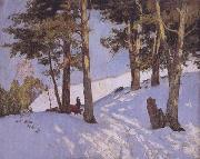 Maurice cullen Logging in Winter,Beaupre (nn02) oil painting picture wholesale