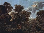 Nicolas Poussin Hut and Well on Rugen (mk10) oil painting picture wholesale