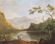 Richard  Wilson View of Snowdon from Llyn Nantlle (mk08) oil painting picture wholesale