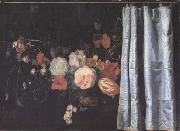 SPELT, Adrian van der Flower Still Life with Curtain (mk14) oil painting picture wholesale