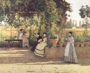 Silvestro lega The Pergola (nn02) oil painting picture wholesale