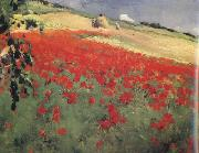 William blair bruce Landscape with Poppies (nn02) oil painting artist