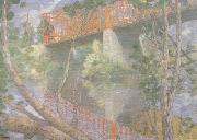 julian alden weir The Red Bridge (nn02) oil painting picture wholesale