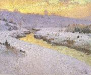 marc-aurele de foy suzor-cote Stream in Winter (nn02) oil painting artist