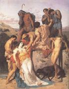 Adolphe William Bouguereau Zenobia.found by shepherds on the Banks of the Araxes  (mk26) oil