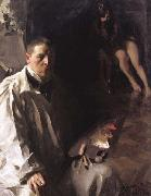 Anders Zorn Self-Portrait with Model (nn02) oil