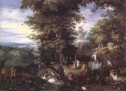 BRUEGHEL, Jan the Elder Adam and Eve in the Garden of Eden (mk25) oil painting picture wholesale